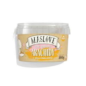 masło orzechowe maslove arachidy z solą himalajską 100%