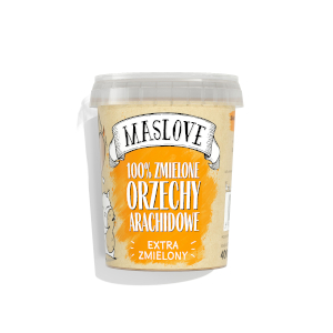 masło orzechowe maslove orzechy arachidowe extra zmielony 100%