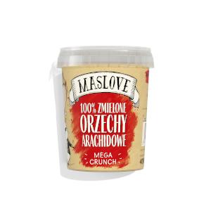 masło orzechowe maslove orzechy arachidowe mega crunch 100%