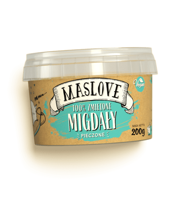 Masło Migdałowe Z Pieczonych Migdałów 200g