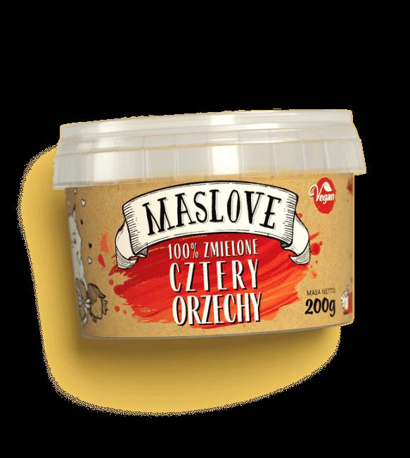 Masło Orzechowe Maslove 4 Love Cztery Orzechy