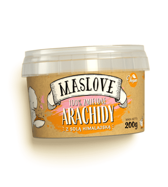 Masło Orzechowe Solone 100% Z Solą Himalajską Arachidowe
