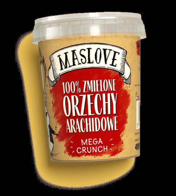 Masło Orzechowe Arachidowe 100% Mega Crunch