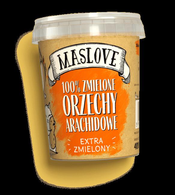 Masło Orzechowe Zdrowe Extra Zmielone 400g