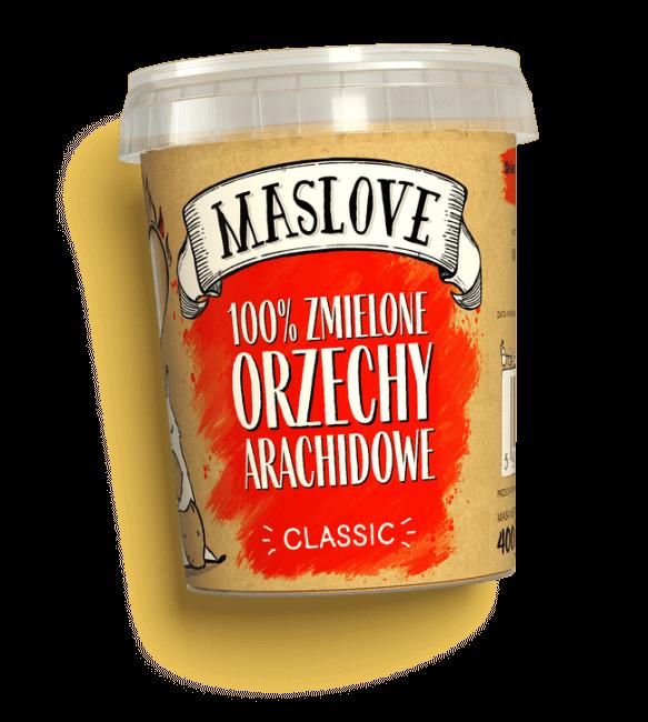 Masło arachidowe zmielone classic 400g