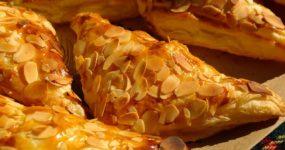 Ciasto francuskie z masłem orzechowym